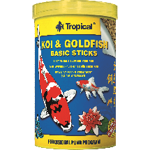 Корм Tropical KOI & Goldfish Basic Sticks для рыб
