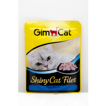 Консервы для кошек Gimpet Shiny Cat pouch, с тунцом, 70г фото