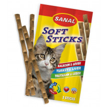 Sanal Cat Soft Sticks «индейка, печень» лакомство для кошек 3 палочки        фото