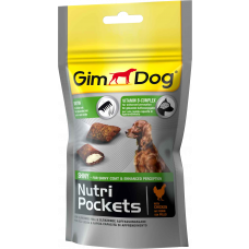 Деликатесы GimDog Nutri Pockets Shiny, для шерсти, 45г
